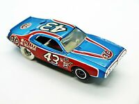 Tyco Petty Charger #43 Light Blue Red small front wheel well version HO Slot Car