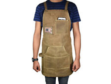Canvas Apron Kitchen Cooking Chef Baking Catering Bbq Plain Pocket Waterproof