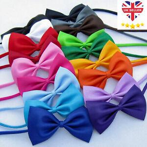 Pet Dog Cat Bow Tie Neck Collar Small Large Adjustable Puppy Kitten Bowtie UK