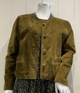 Women's Leather Rat Button Jacket