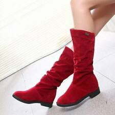 Fashion Girls Winter Long Tube Boots Warm Solid Color Women Boots KS