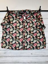 Canyon Ridge Mens Hawaiian Shirt Size 7XL Button Up Multicolor Leaves Print