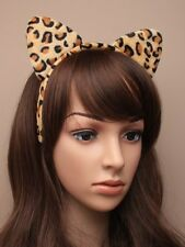 Animal Print Ears Fancy Dress Headband Party Cat Fur Leopard Tiger Dressing Up
