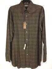 Cremieux Signature Collection Shirt NEW Men's Medium Brown Cotton MSRP: $89.50