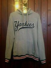 Baseball Yankees Grey Hoodie Jumper Size Small