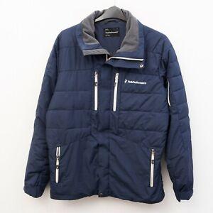 PEAK PERFORMANCE Shiga Mens L Jacket Coat Puffer Windbreaker Warm Full Zip Snap