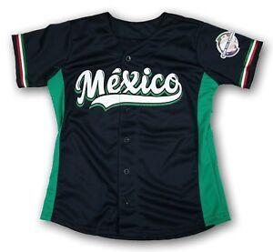Mexico Serie del Caribe Women's Black Baseball Jersey Made in Mexico