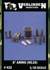 "Verlinden 1:35 8"" Ammo M110 Howitzer Ammo Shells Cartridges & Crates  #422"