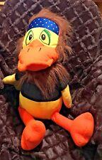 "Toy Factory Billy Duck Plush, 21.5"" Patriotic USA Flag Headband Hippie Beard"