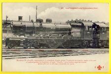 cpa de 1910 LOCOMOTIVE à vapeur des Chemins de fer FRANÇAIS Train Steam engine