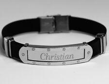 Nombre de la Pulsera de Silicona - CHRISTIAN - Regalos Para Hermano Papá Amor