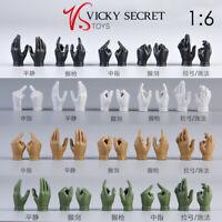 """VSTOYS 1/6 Female Handtypes Hands Gloves Hands F 12"""" PH TBL Female Figure Body"""
