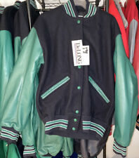DeLong Letterman Jacket Size 4XL Navy /Green  Sleeves White Striped