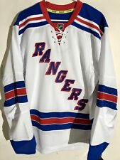 Reebok Authentic NHL Jersey New York Rangers Team White sz 54
