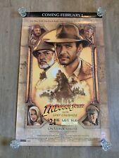 Indiana Jones and the Last Crusade (1989) original movie Vhs 27�x42�poster Rare