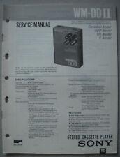 SONY WM-DD II Service Manual