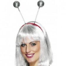 1980s Style Fun Silver Glitter Ball Boppers - Fancy Dress Head Band
