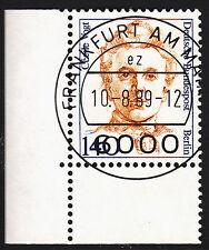 32) Berlin 140 Pf. Frauen  848 Eckrand Ecke 3 E3 EST Frankfurt m Gummi Perfekt