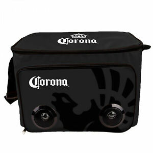 Corona Extra Soft Cooler Bag With Built In Bluetooth Speakers Black