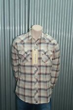 191 Unlimited Beige & Tan Plaid Button-Up Woven NWT S
