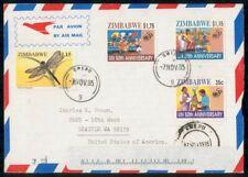 Mayfairstamps Zimbabwe 1995 Gweru Dragonfly UN Combo Cover wwg_03359