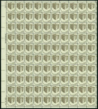 US #1584 3¢ Early Ballot Box Americana shiny gum Sheet of 100 NH