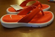 NEW Nike Women's Ultra Comfort Thong Size 7 Print Sandals in Red/White