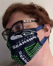 Seattle Seahawks Face Mask - All Sizes  - Handmade