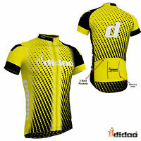 New Men's Team Cycling Half Sleeve Shirts Reflective Strip Jerseys Sports Wears