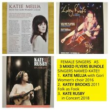 FEMALE SINGERS (named KATE) A5 FLYERS X3 - KATIE MELUA, KATEY BROOKS, KATE RUSBY