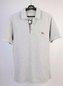 Men's Burberry Brit Gray 100% Cotton Polo Shirt Size S 180/92A