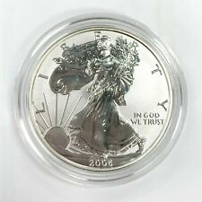 2006 P Proof Reverse Proof ASE American Silver Eagle .999 Silver in Capsule