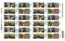 ROMERO BRITTO 450 ANNIVERSARY OF THE CITY OF SÃO PAULO SHEET - 24 STAMPS  *MINT*