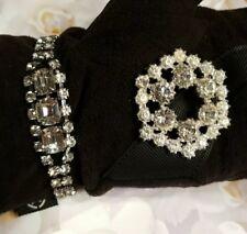 VTG Rhinestone Bracelet and Brooch - Gift Ready - Sale