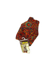 Dickens New Groovy Dog Outfit Fleece Jacket & Booties Shoes Colorful 70s M / S