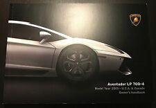 Pre-Owned OEM 2013 Lamborghini Aventador LP 700-4 Owner's Handbook Manual! Save!