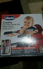 NEW Baby Chicco Caddy Hook On High Chair Table Red -Flat Fold 6-36 Months 37 lbs