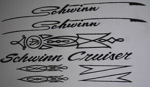 Schwinn Cruiser Decal Set A1