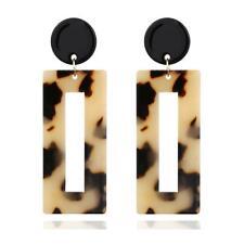 Leopard Rectangle Acrylic Drop Dangle Earrings Large Resin Ear Studs Women UK