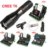 20000lm XML XM-L T6 LED Lampe Police Tactical Flashlight Military Torche Battery