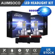 Ice Blue H11 LED Headlight Bulbs Kit Super Bright Low Beam 8000LM 8000K 80W Lamp