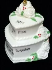 Lenox Our First Christmas Together 2014 Wedding Cake Ornament Excellent