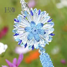 Sea Blue Sun Catcher Hanging Crystals Rainbow Prism Feng Shui Window Car Pendant
