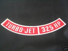 1969 CAMARO/CHEVELLE TURBO-JET 325HP AIR CLEANER DECAL