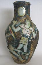 Mid Century Modern Art Pottery Vase ITALO CASINI SESTO VESSEL  VINTAGE Italy