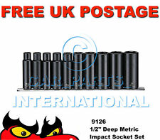 "Teng Tools 9126 Metric Deep Impact Socket Set 10 Piece 1/2"" Drive"