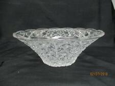 "Vintage Daisy Button Glass Serving Bowl 10"" Wide x 4"" Tall Unbranded"