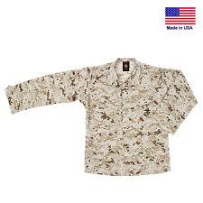 Marine Corps Combat Desert Pattern MARPAT Large Long Button Uniform Blouse Shirt