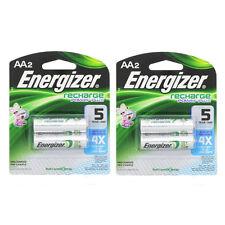 2 Pack Energizer Rechargeable Power Plus AA 2300 mAh Batterie 2 Ea = 4 Batteries