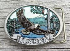 Alaska American Bald Eagle Vintage Belt Buckle